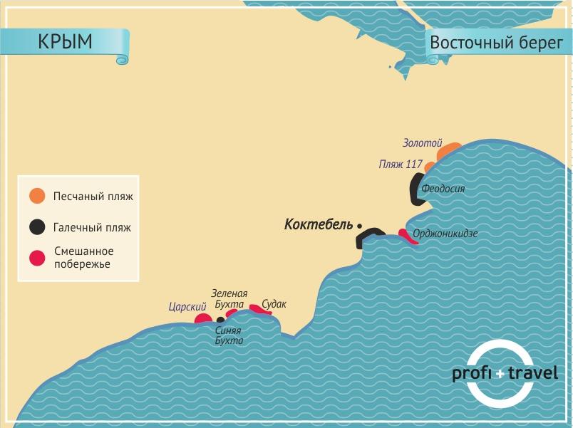крым восточнй Все пляжи Крыма: где песок, а где медузы...)))